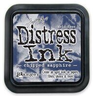TDPK-40422-2 Штемпельная подушка DISTRESS MINI,  Tim Holtz, 1 шт. Chipped Sapphire - расщепленный са
